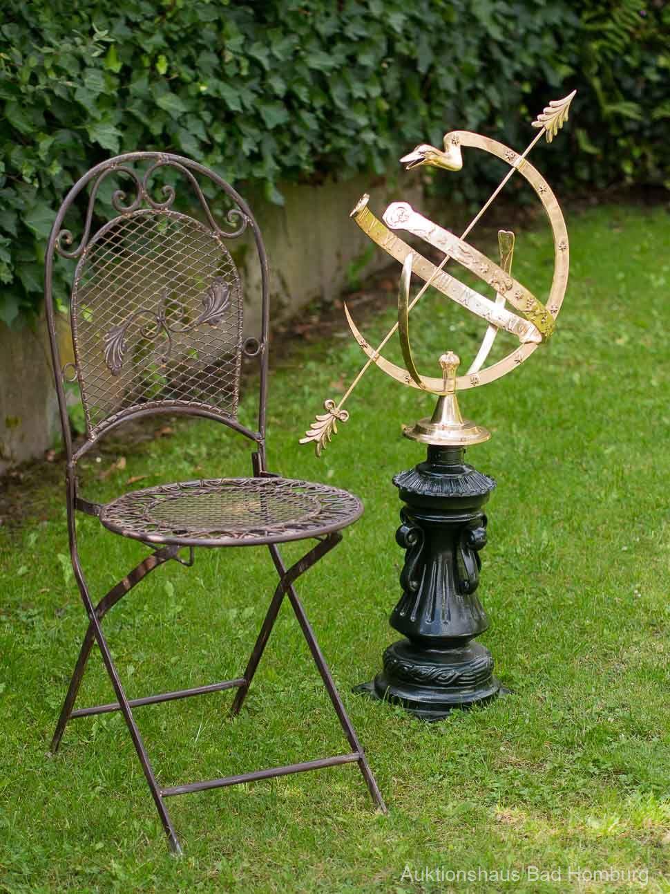 Cadran solaire 104 cm Aluminium Jardin Décoration Antique Style Signe Sundial