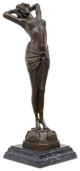 Bronzeskulptur Erotik erotische Kunst im Antik-Stil Bronze Figur Statue 42cm