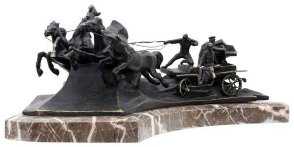 Bronzeskulptur Russland Tatschanka im Antik-Stil Bronze Figur 42cm