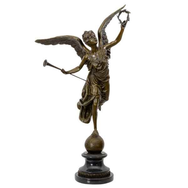 Bronzeskulptur Nike Göttin nach Pierre Biard im Antik-Stil 66cm Replik Kopie