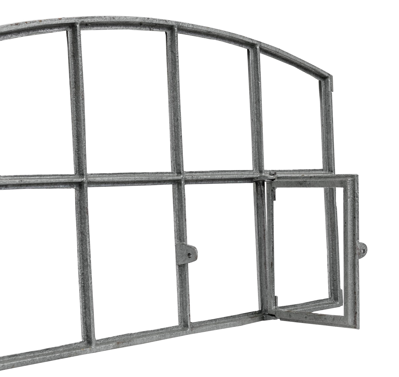 Fenster grau Stallfenster Eisenfenster Scheunenfenster Eisen 66cm Antik-Stil w