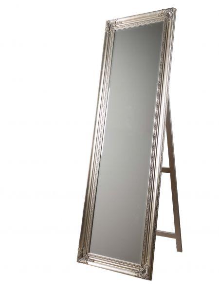 Spiegel Standspiegel Ankleidespiegel Farbe Silber Höhe 175cm im antik Stil