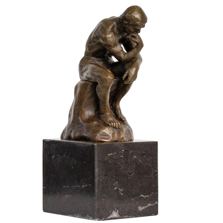 Bronze der Denker Mann Bronzeskulptur Bronzefigur nach Rodin Skulptur sculpture