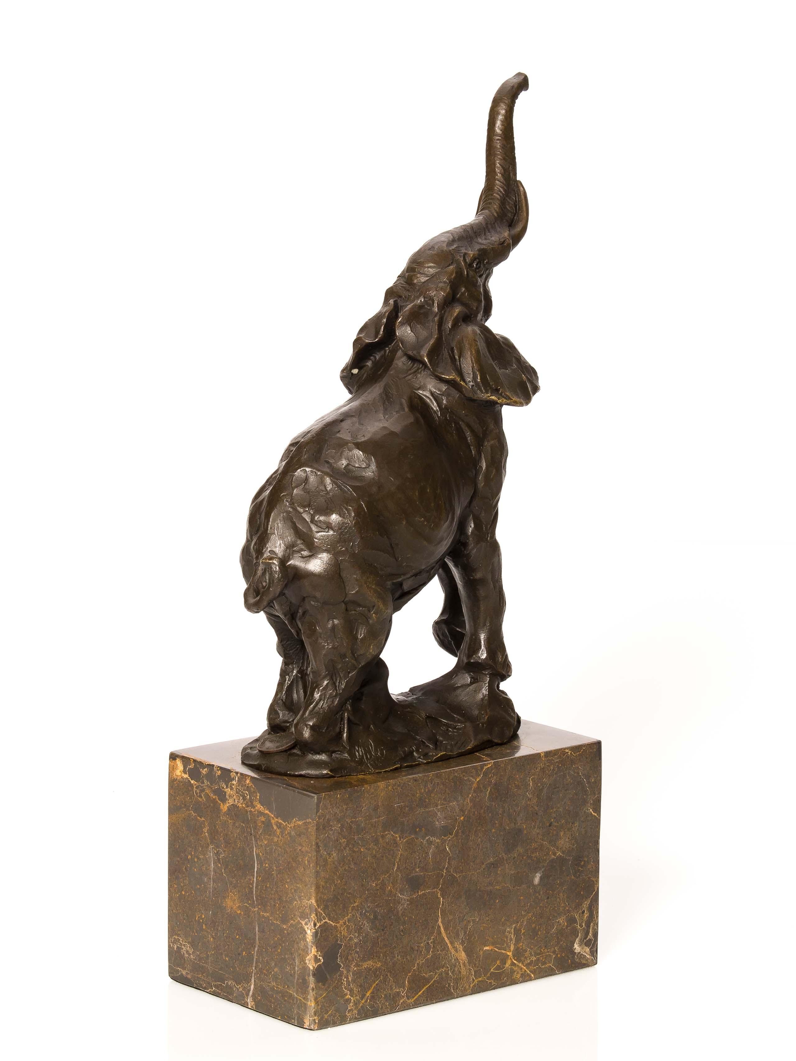Wand Skulptur Türklopfer Bronze Elefant Antik Stil