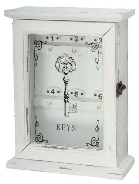 Schlüsselkasten im antik Stil Schlüssel keyholder Landhaus Shabby chic Holz weiß