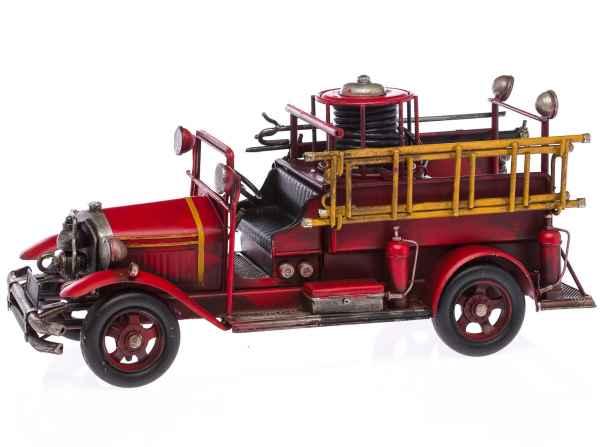 Feuerwehrauto Modellfahrzeug Feuerwehr im nostalgischem Stil 35cm Auto Blech