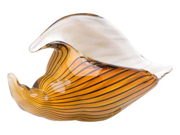 Glasschale Glas Vase Italien im Murano antik Stil Breite 28cm 2kg Schale Muschel