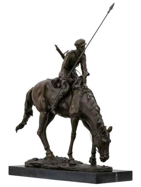 Bronzeskulptur Soldat Antik-Stil Bronze Statue nach Evgeny Lansere Replik Kopie
