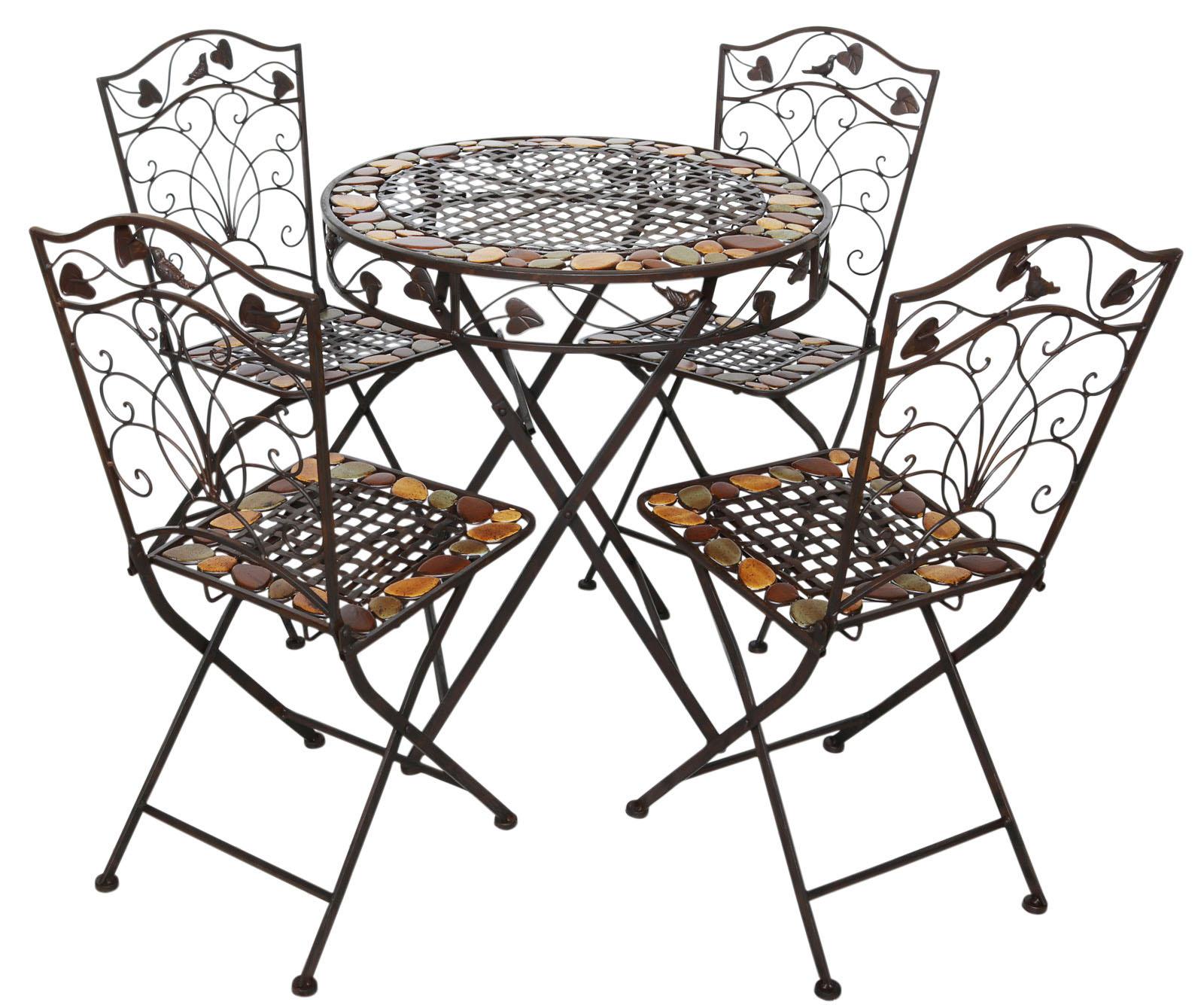 Tavoli E Sedie In Ferro Per Giardino.Tavolo Da Giardino E 4 Sedie In Ferro Battuto In Ferro In Stile