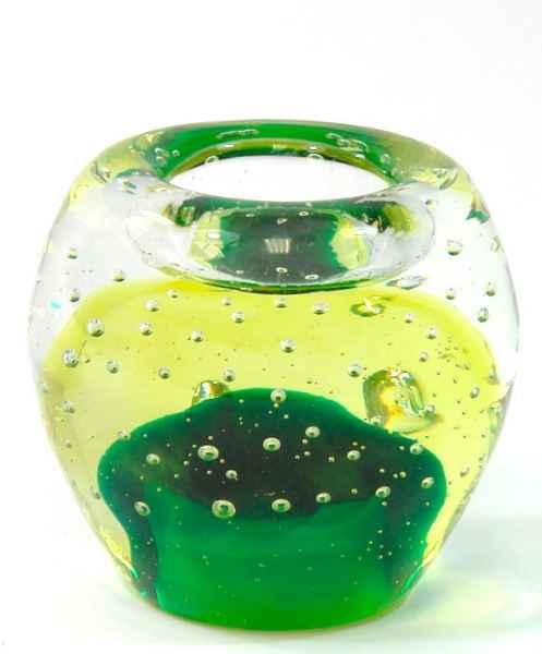 Teelichhalter Windlicht Kerzenhalter Glas im Murano Antik-Stil 9cm (b)
