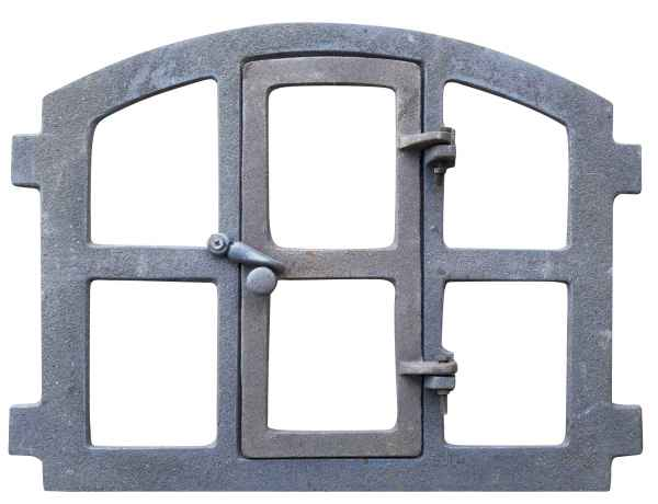Stallfenster Fenster zum Öffnen Scheunenfenster Eisen grau 48 x 41cm Antik-Stil