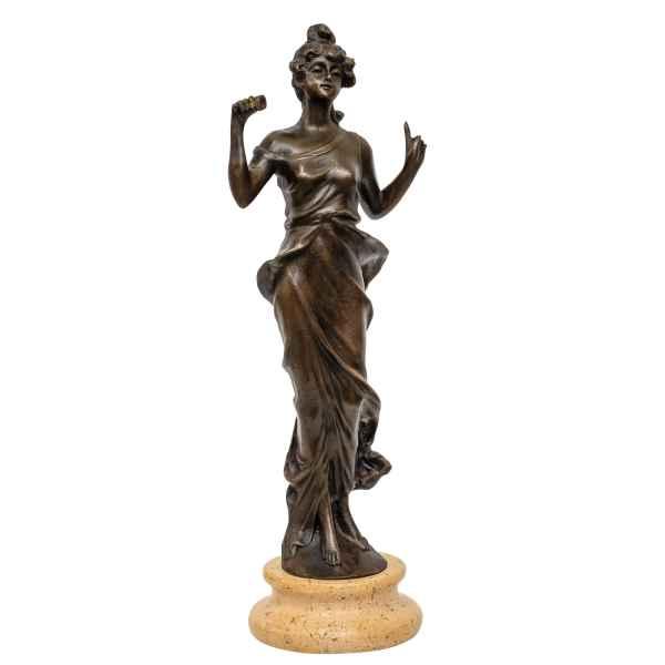 Bronzeskulptur Frau im Antik-Stil Bronze Figur Statue 25cm