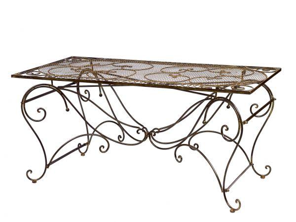Tisch Gartentisch Esstisch Eisen Nostalgie Antik Stil 160x80cm