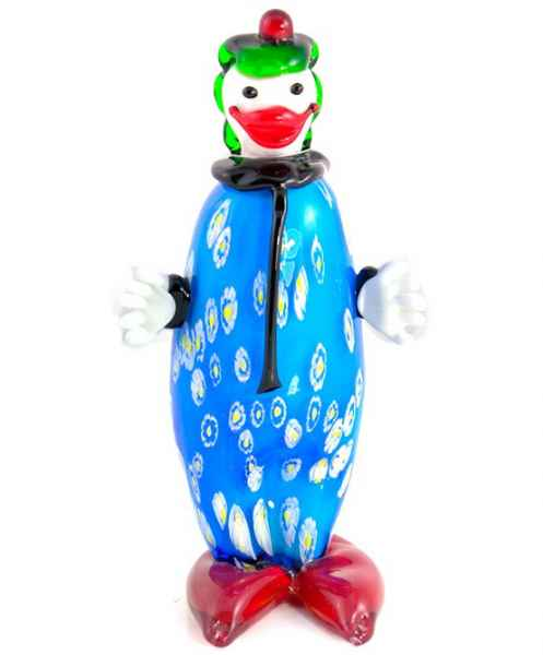Glasfigur Figur Clown Kunst Glas im Murano Antik Stil 26cm