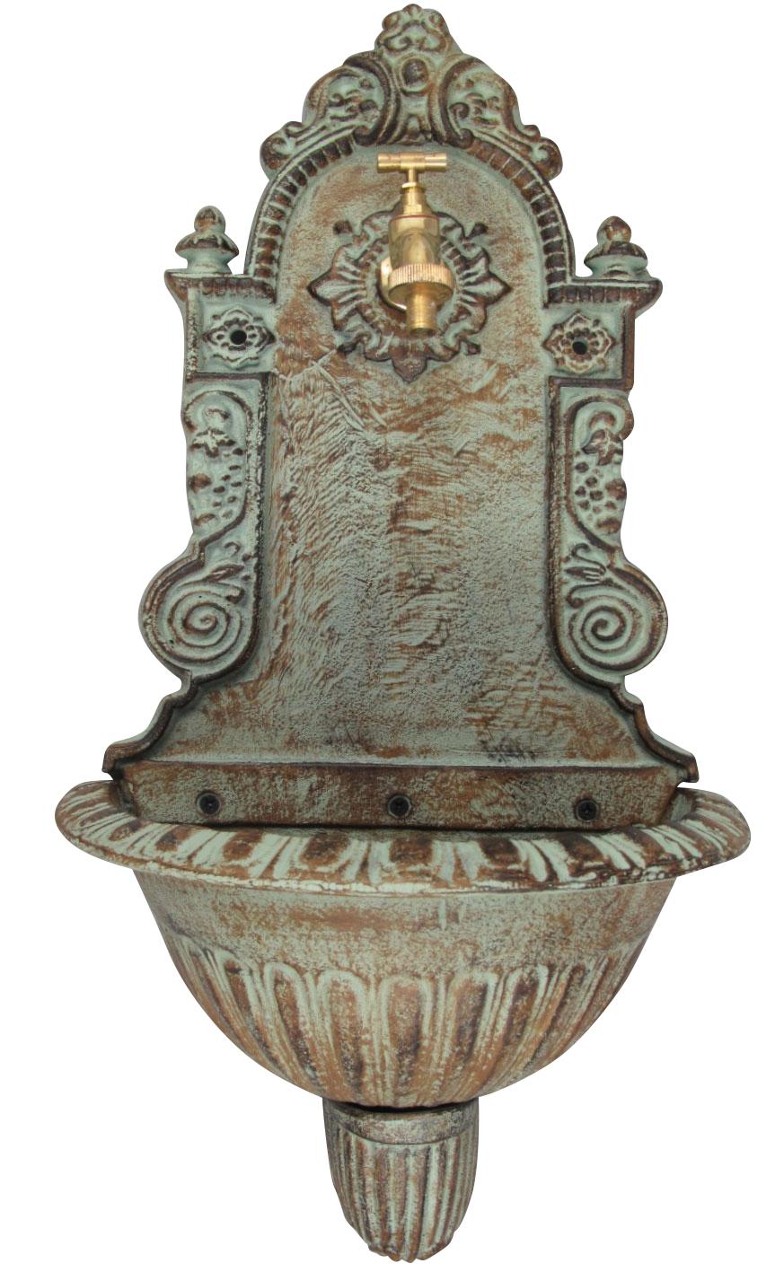 Beautiful Wall Fountain With Basin Antique 19th Century Design Cast Iron Aubaho