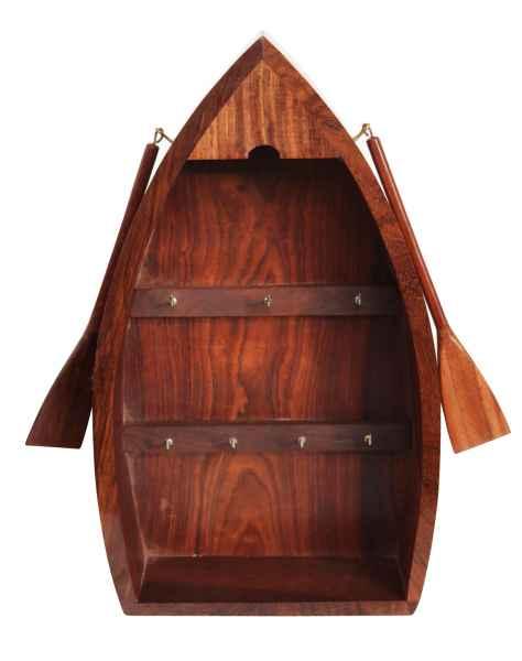 Schlüsselkasten Schlüssel Schlüsselschrank Boot Maritim Nautik Holz Antik-Stil