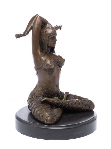 Bronzeskulptur Art Deko Stil Tänzerin Bronze Skulptur Figur sculpture danseuse