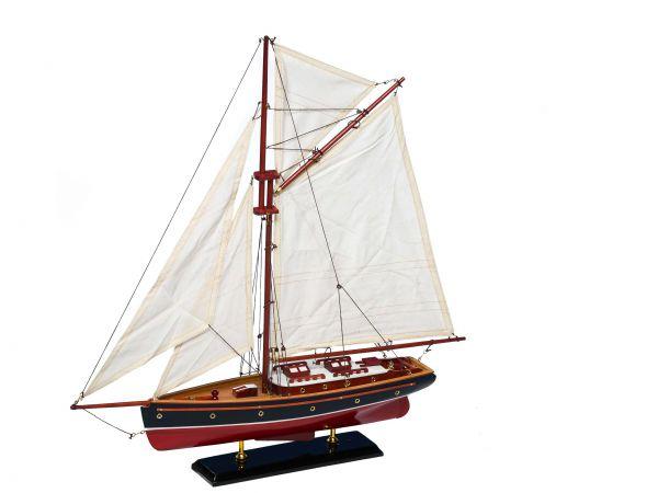 Modellschiff Segelyacht Yacht Holz Schiff Boot Segelschiff Schiffsmodell Maritim