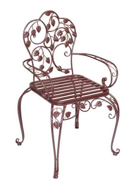 gartenstuhl metall antik stil bistrostuhl 93cm garten. Black Bedroom Furniture Sets. Home Design Ideas