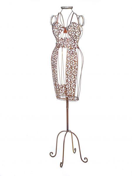 Nostalgie Schneiderpuppe Metall Garderobe Stummer Diener 155cm dummy antik Stil
