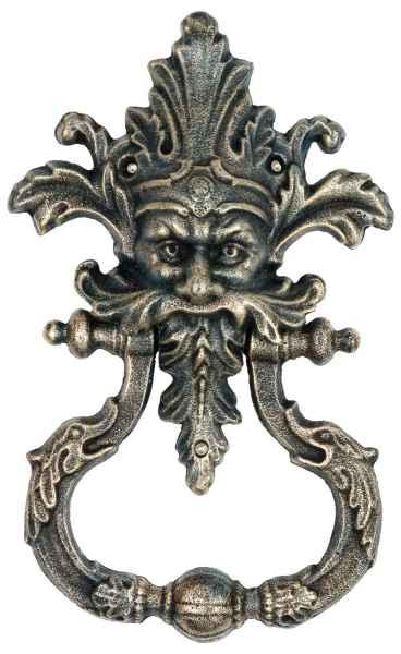 Türklopfer Teufel Faun Figur Skulptur Eisen im Antik-Stil - 34cm (a)