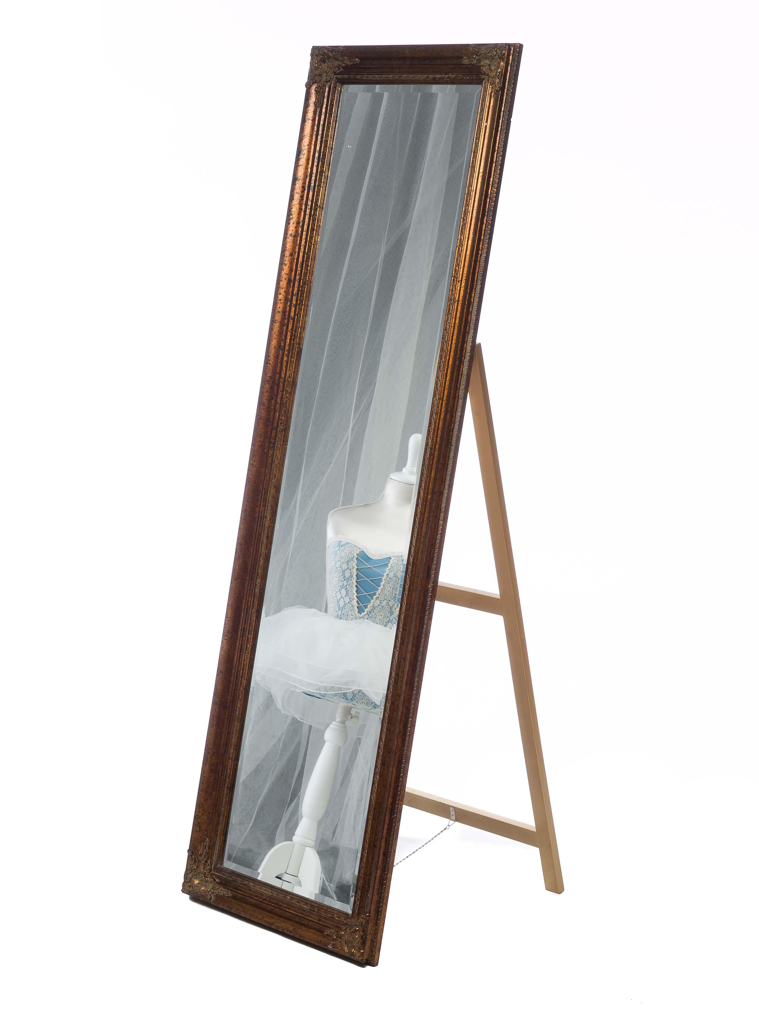 Spiegel Standspiegel Ankleidespiegel Farbe Gold Höhe 175cm Im Antik