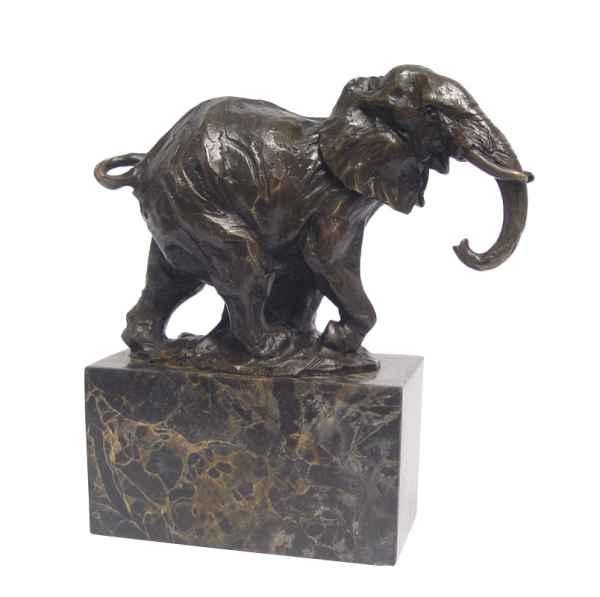 Bronzeskulptur Elefant im Antik-Stil Bronze Figur 21cm