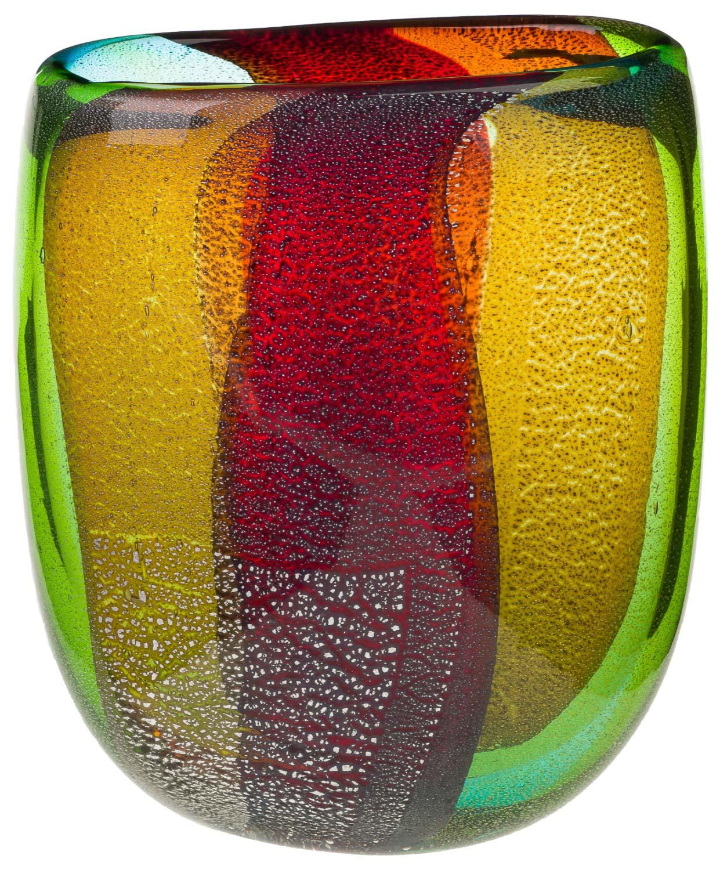 Glasvase Vase Glas im Murano Antik Stil 30cm