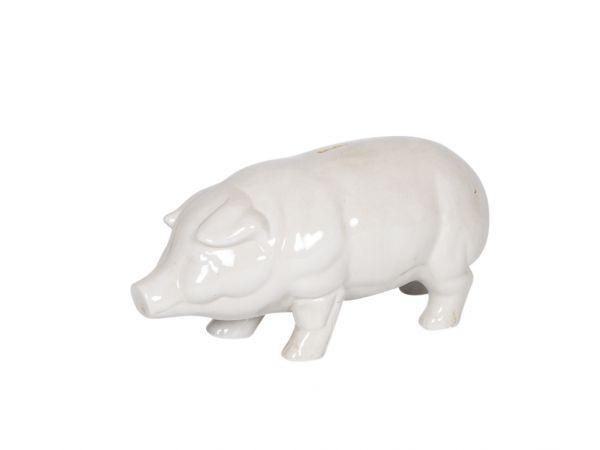 XL Sparschwein Spardose Schwein Porzellan Nostalgie antik Stil pig moneybox