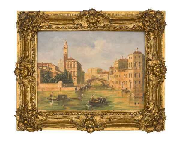 Ölgemälde Venedig San Geremia Ponte delle Guglie Stil Gemälde nach Cimaroli
