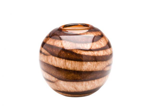 Glasvase Glas Vase im Italien Murano antik Stil 19cm Tischvase Kugelvase glass