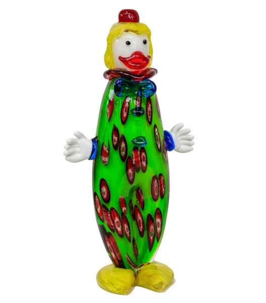 Glasfigur Figur Clown Glas im Murano Antik Stil 29cm