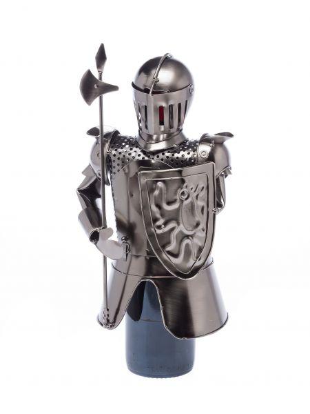 Flaschenhalter Ritter mit Lanze Flasche Weinhalter Weinständer Wein Mittelalter