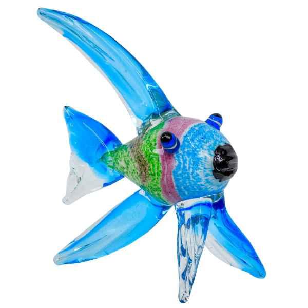 Glasfigur Figur Fisch Tier Glas im Murano Antik Stil 32cm