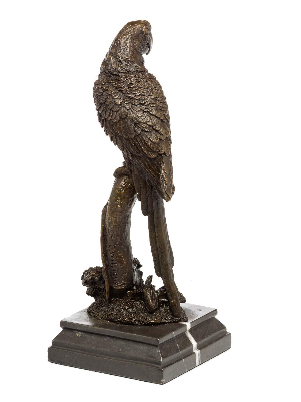 Brąz Wykonane od 1945 Bronze Papagei Ara Vogel Bronzefigur Bronzeskulptur antik Stil sculpture parrot