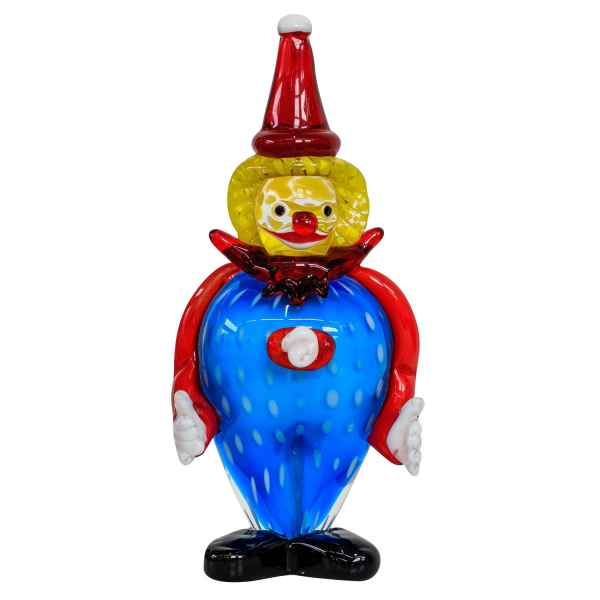 Glasfigur Figur Clown Glas im Murano Antik Stil 27cm