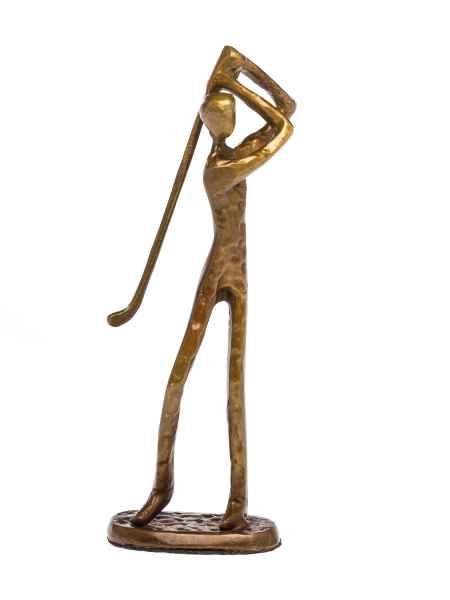 Skulptur Golf Golfer Antik-Stil Bronze Figur Moderne Pokal Trophäe