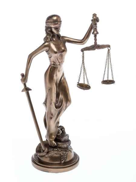 Skulptur der Justitia Figur 34cm Anwalt Recht Justizia sculpture justice
