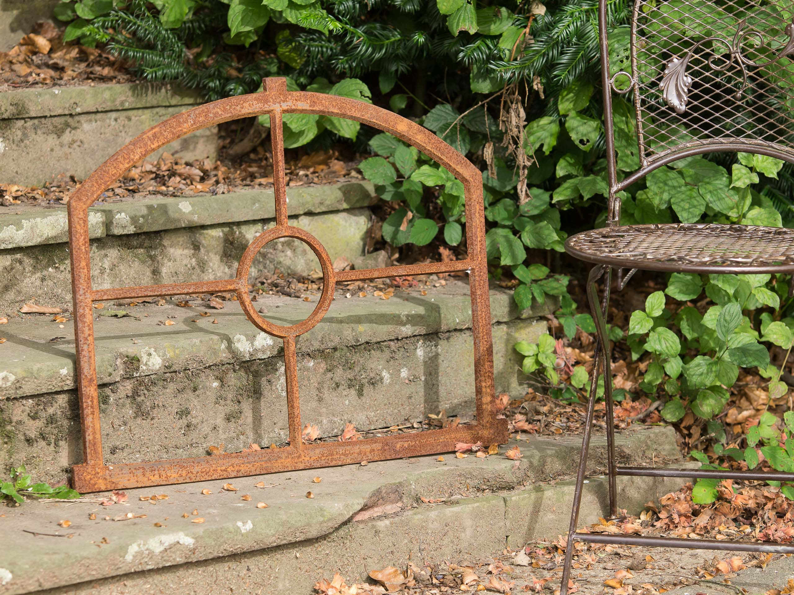 """cast iron with rust Window frame in an antique style 55x70cm 21.7""""x27.6/"""""""