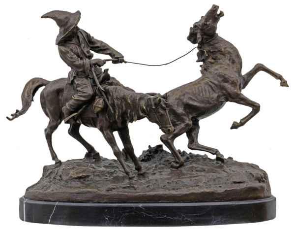 Bronzeskulptur nach Evgeny Lansere Replik Kopie Kirgise Pferd im Antik-Stil 57cm