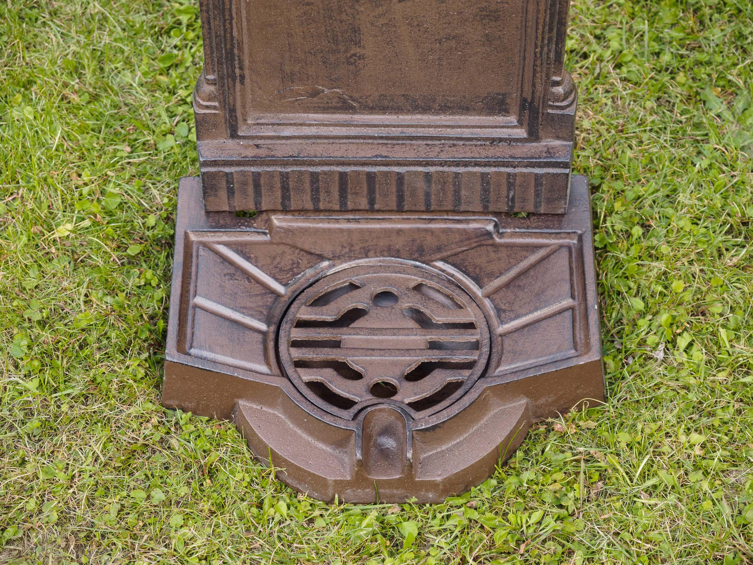 Standbrunnen 64cm 11kg Waschbecken Brunnen Eisen braun Wandbrunnen antik Style