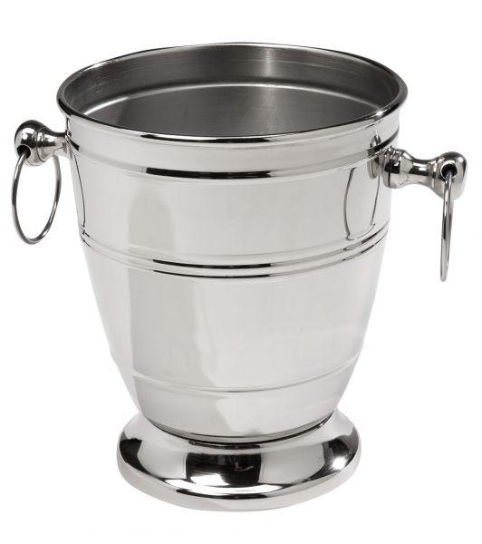 Sektkühler Weinkühler Flaschenkühler Metall vernickelt 25cm champagne bucket