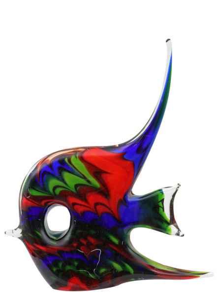 Glasfigur Figur Skulptur Glas Glasskulptur Fisch Murano-Stil Antik-Stil 29cm