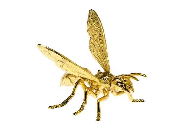 ZinnFigur Wespe Biene im Flug Figur Skulptur Insekt Imker Zinn sculpture