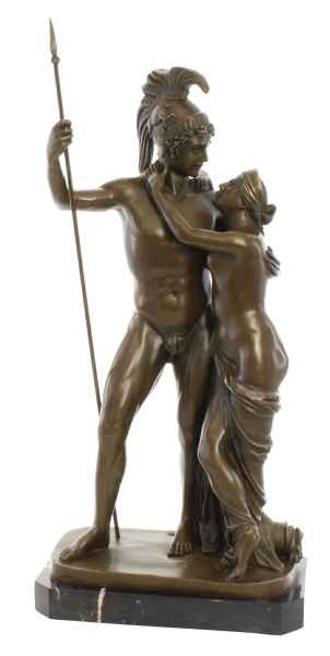 Bronzeskulptur Venus Mars Bronze Figur Statue Bronzefigur im Antik-Stil 68cm