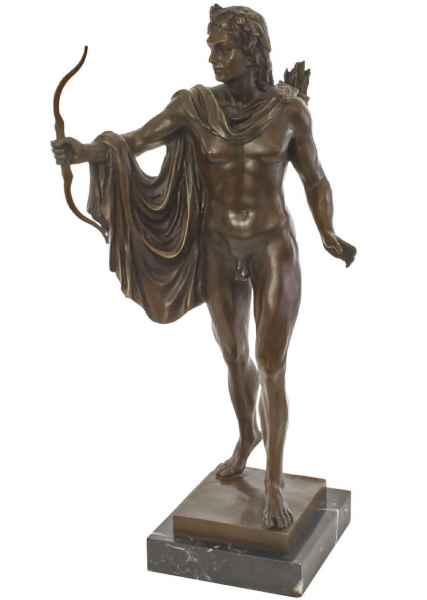 Statuette Apollon en bronze style antique statue 62cm