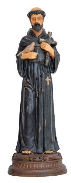 Skulptur St.Franziskus Figur Statue Franz von Assis Antik-Stil Mönch 60cm