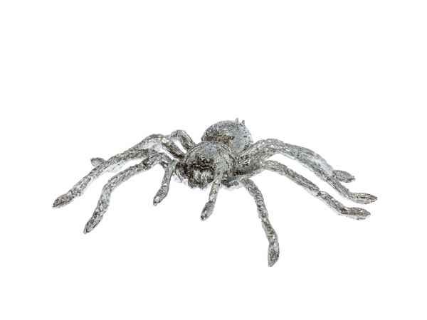 Zinnfigur Spinne Figur Skulptur Silber Insekt Zinn sculpture spider