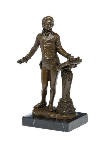 Bronzestatue Dichter Bronzeskulptur Komponist Bronze Redner Figur