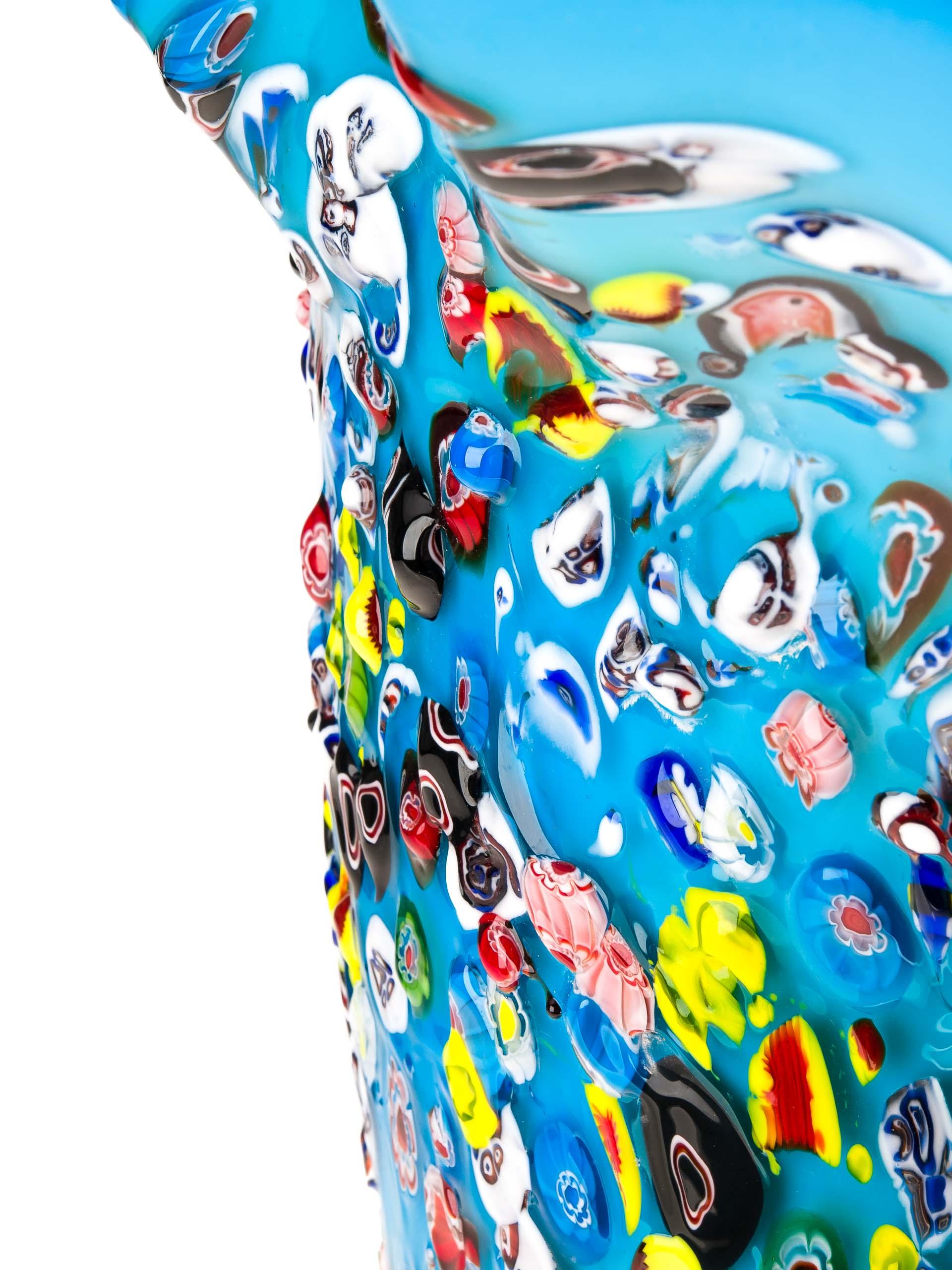 Glasvase Glas Vase im Italien Murano antik Stil 42cm schwere Tischvase glass